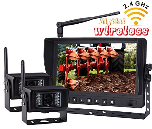 Wireless Rear VIEW BACK UP monitor with Wireless Transmission Backup Camera