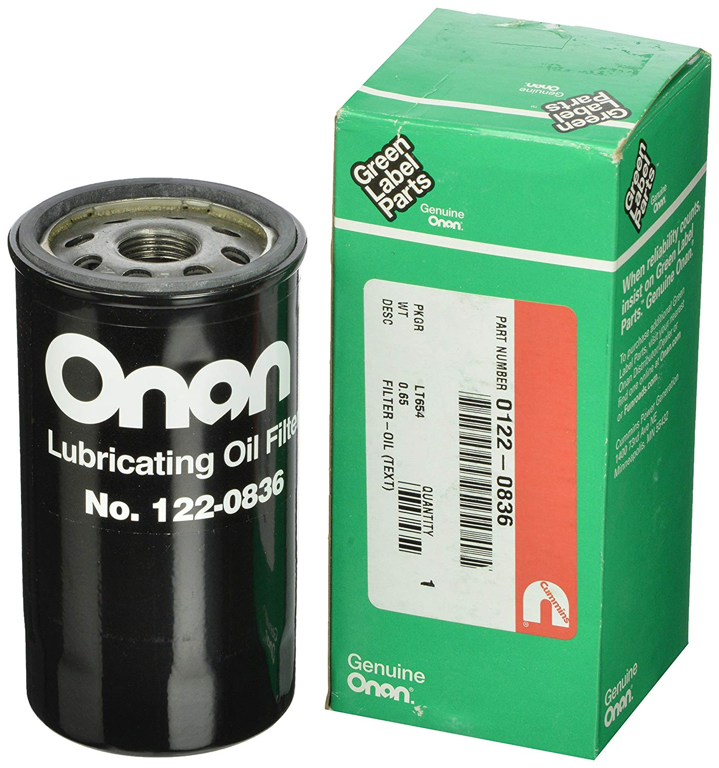 Cummins Onan 122-0836 Oil Filter